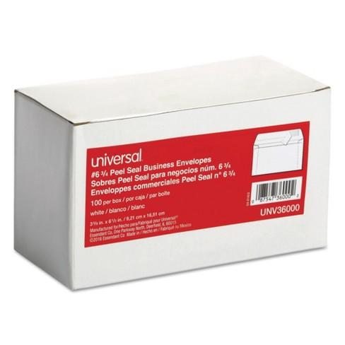 Universal Peel Seal Strip Business Envelope 6 34 3 58 X 6 12