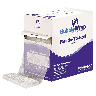"""Sealed Air Bubble Wrap 1/2"""" Thick 12"""" x 65' Cushion Bubble Roll"""