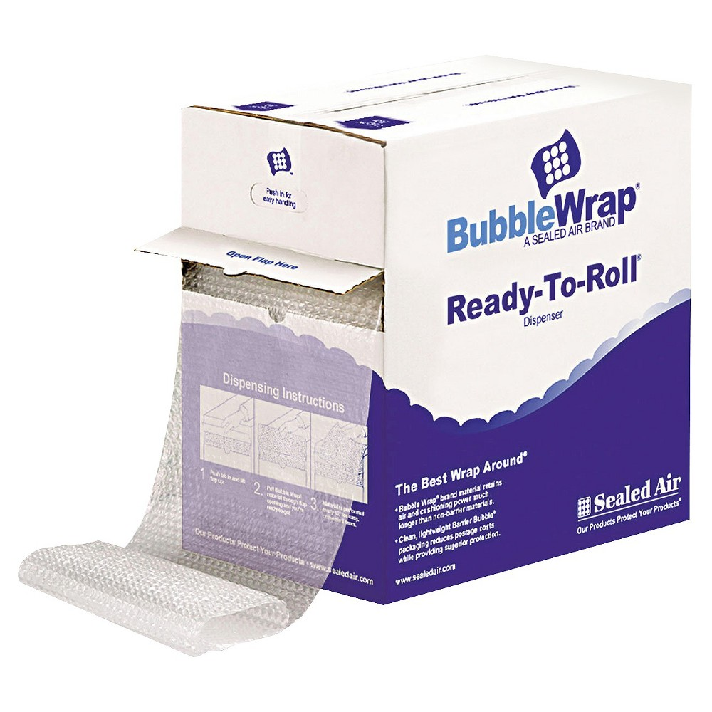 "Image of ""Sealed Air Bubble Wrap 1/2"""" Thick 12"""" x 65' Cushion Bubble Roll"""
