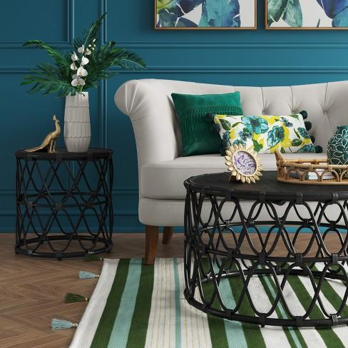 Jewel Round Coffee & Side Table Set Black - Opalhouse™ : Target