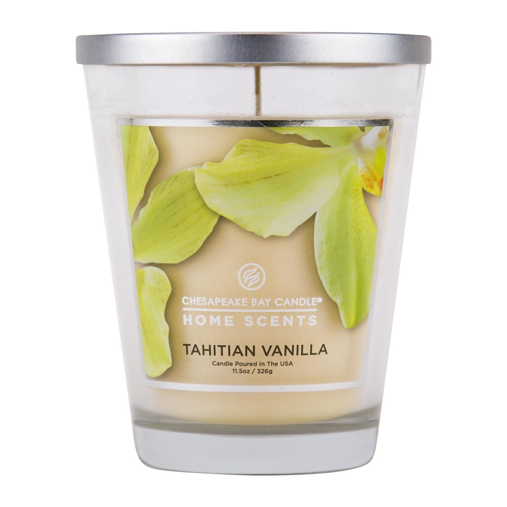 Image of 11.5oz Lidded Glass Jar Candle Tahitian Vanilla - Home Scents By Chesapeake Bay Candle