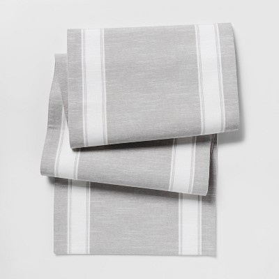 108 x14  Stripe Runner Gray - Threshold™