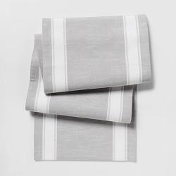 "108""x14"" Stripe Runner Gray - Threshold™"