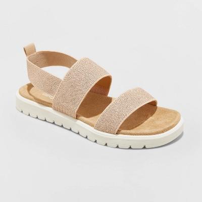Girls' Julep Ankle Strap Sandals - Cat & Jack™ Rose Gold 13