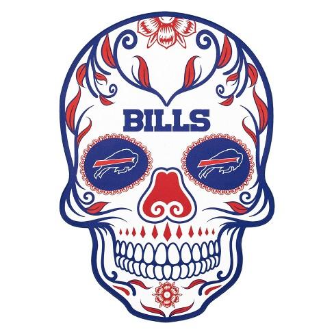 NFL Buffalo Bills Small Outdoor Skull Decal - image 1 of 2