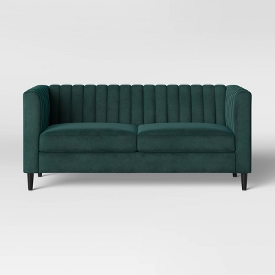 "71"" Calais Sofa with Channel Tufting Green - Project 62™"