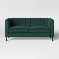 """71"""" Calais Sofa with Channel Tufting Green - Project 62™"""