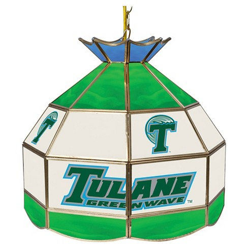 "NCAA Tulane Green Wave Stained Glass Tiffany Lamp - 16"" - image 1 of 1"