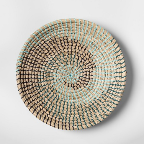 Seagrass Woven Serving Bowl Blue - Opalhouse™ - image 1 of 3