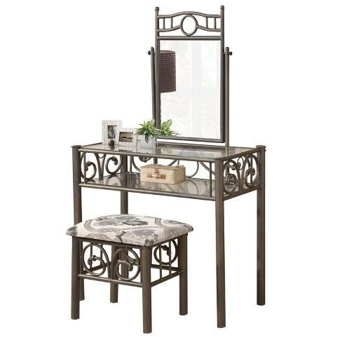 Vanity And Bench Metal Bronze - Home Source Industries - image 1 of 3