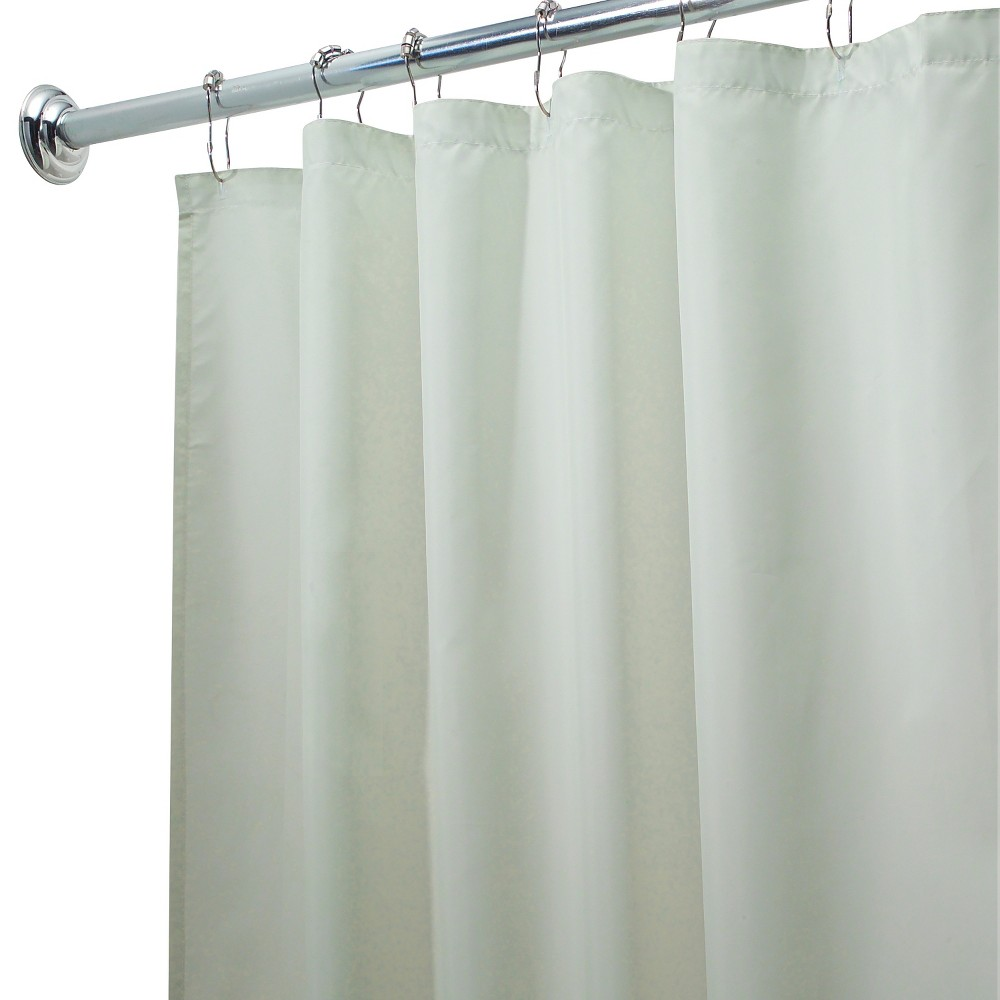 InterDesign Waterproof Polyester Shower Curtain/Liner, Pale Green