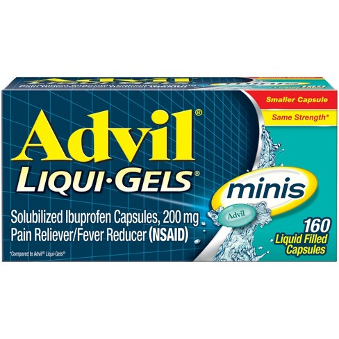 Advil Pain Reliever/Fever Reducer Liqui-Gel Minis - Ibuprofen (NSAID) - image 1 of 4