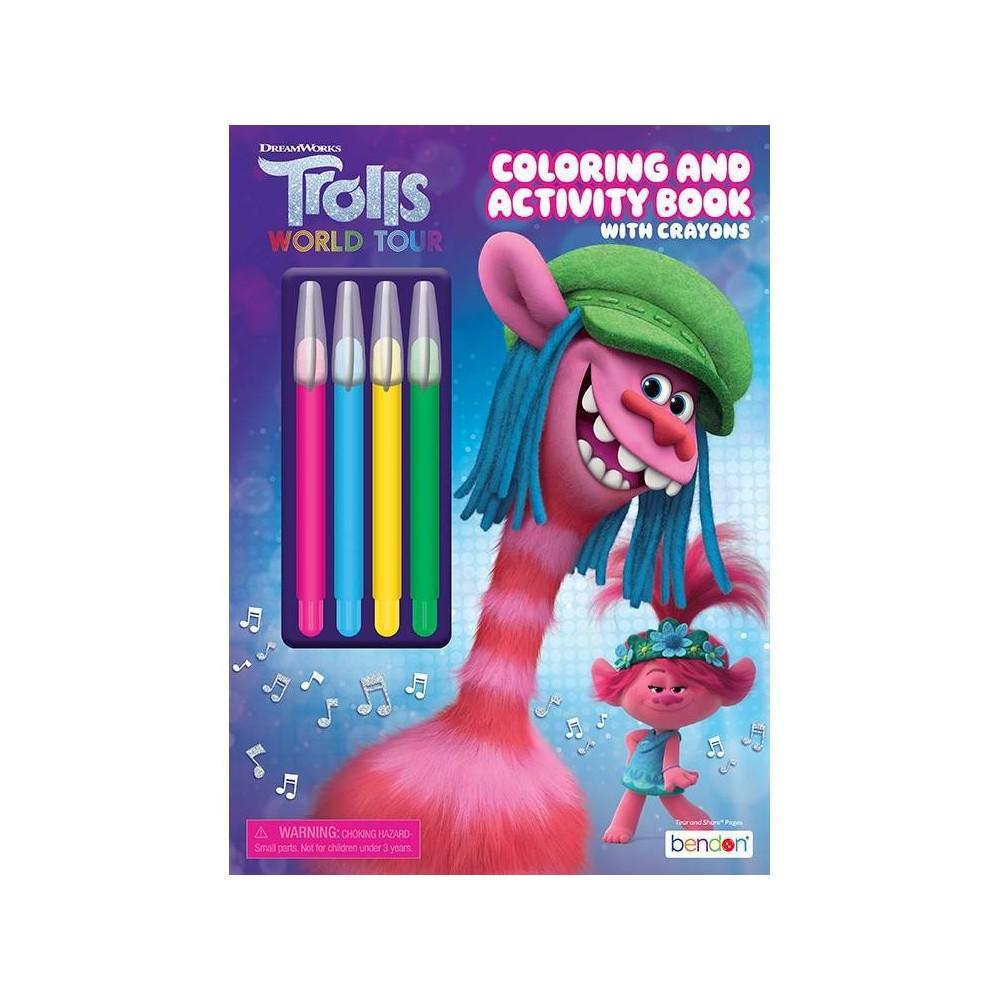 Trolls 2 Coloring With Jumbo Twist Crayons