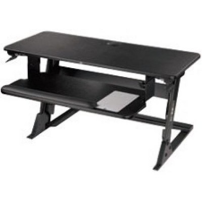 "3M Precision Standing Desk - Up to 24"" Screen Support - 45 lb Load Capacity - 6.2"" Height x 42"" Width x 23.2"" Depth - Medium Density Fiberboard (MDF)"