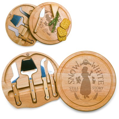 Disney Snow White Circo Wood Cheese Board with Tool Set by Picnic Time