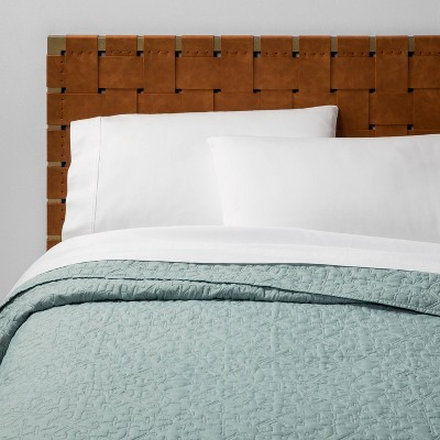 Full/Queen Garment Washed Quilt Blue - Opalhouse™