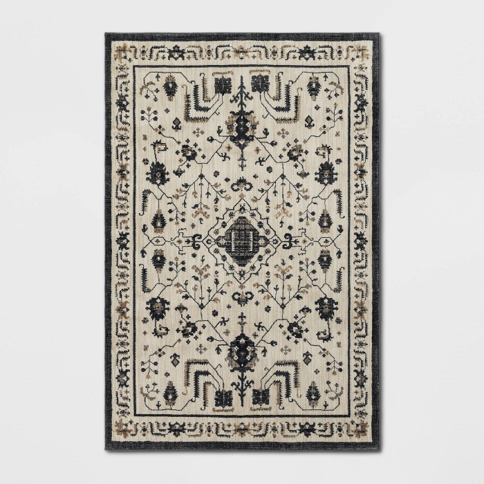 Albion Persian Rug Cream/Black - Threshold™ - image 1 of 6