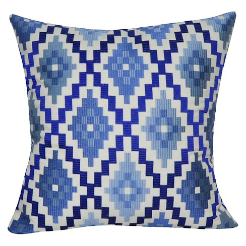 "Blue Dusk Diamonds Throw Pillow (22"" x 22"") - Loom & Mill - image 1 of 2"