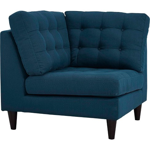 Empress Upholstered Fabric Corner Sofa Azure - Modway - image 1 of 3