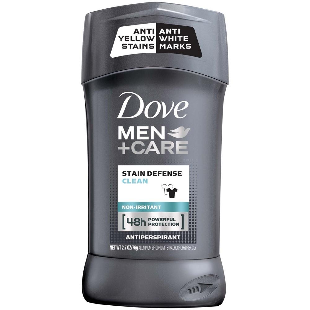 Dove Men+Care Stain Defense Antiperspirant Deodorant Stick Clean - 2.7oz, Clear