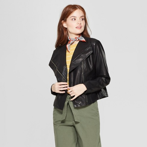 Women's Asymmetrical Zip Moto Jacket - A New Day™ - image 1 of 6