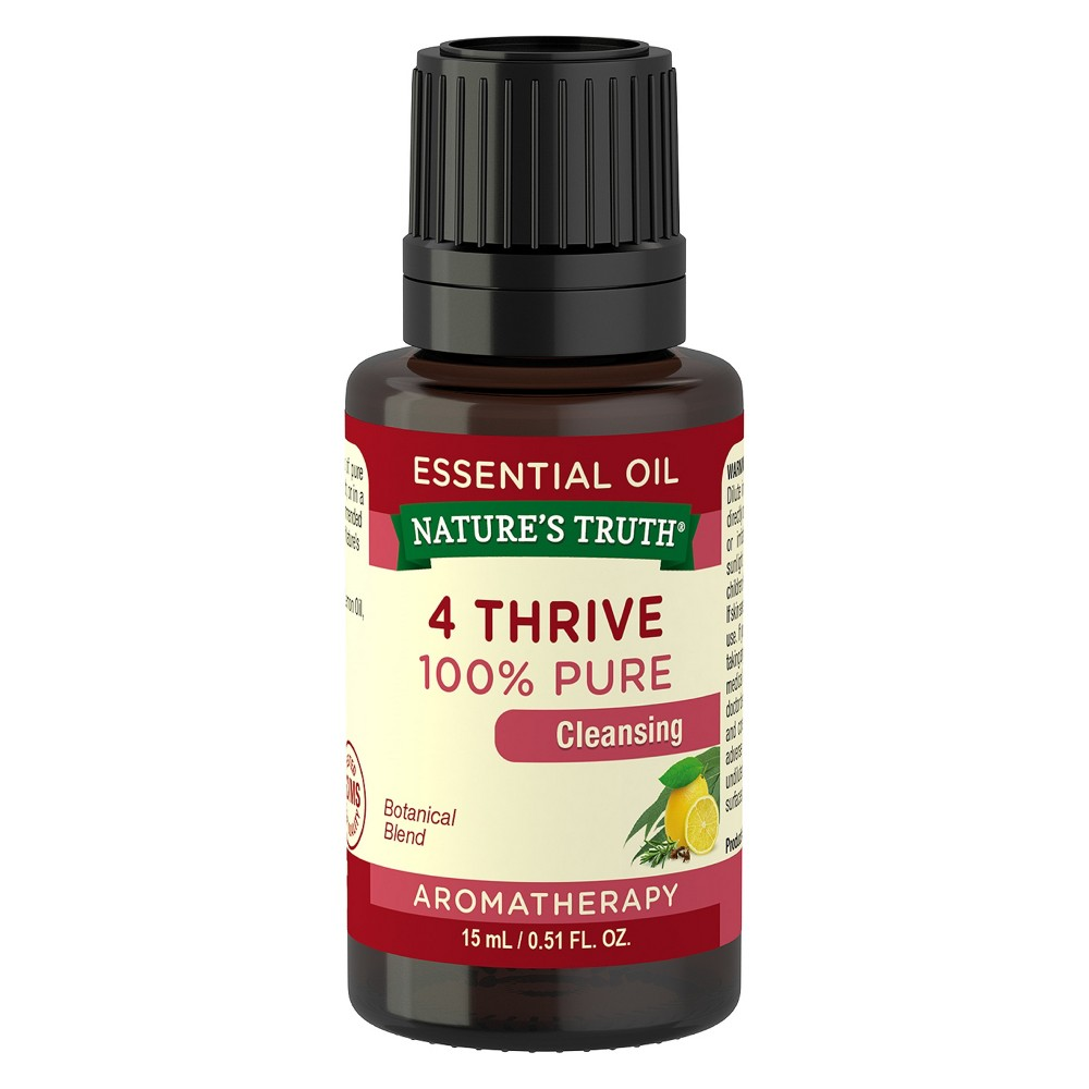 Nature's Truth 4 Thrive Cleansing Aromatherapy Essential Oil - 15ml, Clear