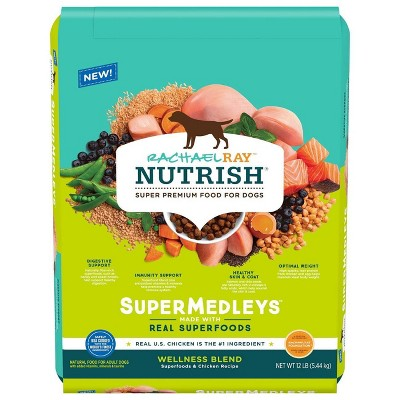 Rachael Ray Nutrish Super Medleys Wellness Blend Superfoods & Chicken Recipe Adult Super Premium Dry Dog Food