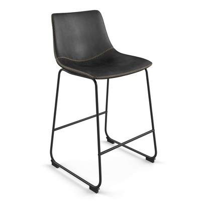 Set of 2 Petra Upholstered Counter Height Barstool - Aeon