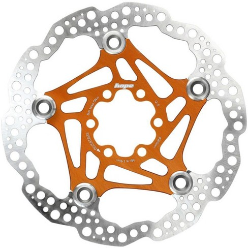 Hope Tech 2-Piece Floating Disc Rotor: 160mm Orange Includes Bolts - image 1 of 1
