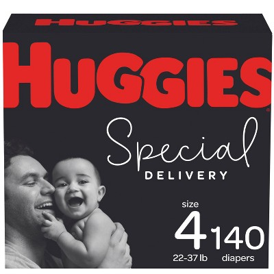 Huggies Special Delivery Hypoallergenic Baby Disposable Diapers Economy Plus Pack - Size 4 - 140ct