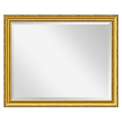 """32"""" x 26"""" Colonial Embossed Gold Framed Wall Mirror - Amanti Art"""