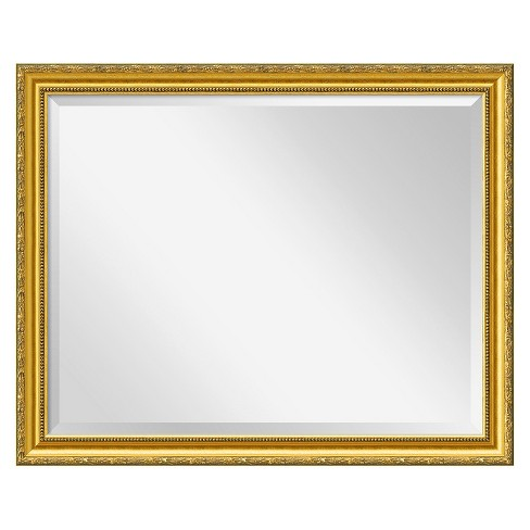 Rectangle Colonial Embossed Decorative Wall Mirror Gold - Amanti Art - image 1 of 4