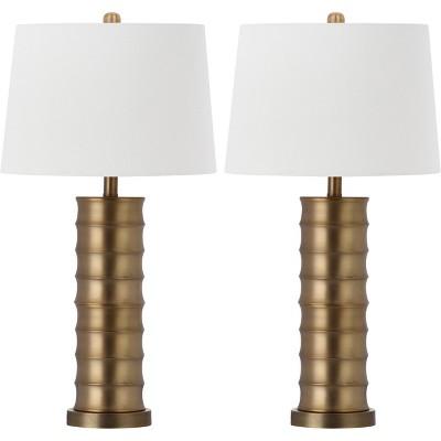Linus Brass Column Table Lamp (Set of 2)- Safavieh®