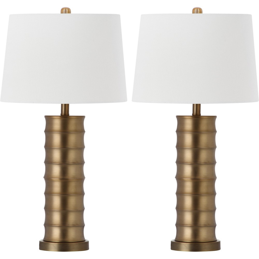 Linus Brass Column Table Lamp (Set of 2) - Safavieh