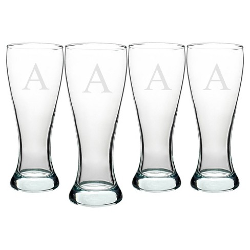 Cathy's Concepts Personalized Pilsner Glass 20oz Set of 4 A-Z - image 1 of 2
