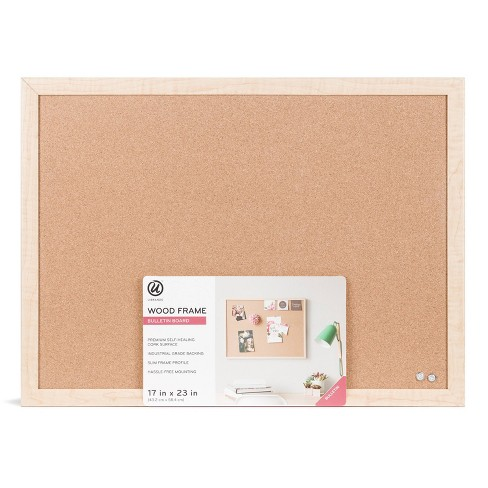 "U-Brands 23"" x 17"" Cork Bulletin Board with Wood Frame - image 1 of 4"