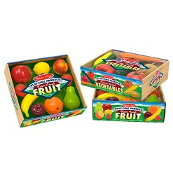 Melissa & Doug Playtime Produce Fruits Play Food Set With Crate (9pc)