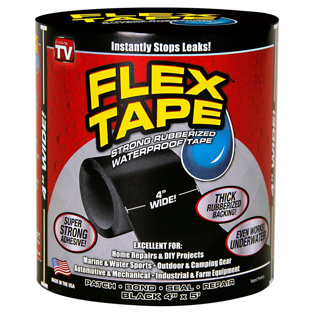 Image of As Seen on TV Flex Repair Tape Black