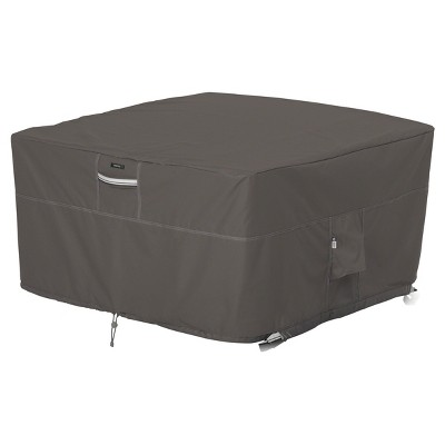 Ravenna Fire Pit Table Cover Square - Dark Taupe - Classic Accessories