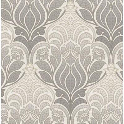 NuWallpaper 28.2' Charisma Peel & Stick Wallpaper Gray