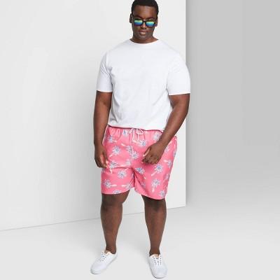 "Men's Big & Tall 7"" Swim Trunks - Goodfellow & Co™ Tropical Pink"