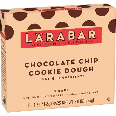 Larabar Fruit And Nut Bar - Chocolate Chip Cookie Dough 5 Bars