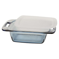 """Pyrex 8"""" Square Glass Lidded Bakeware"""