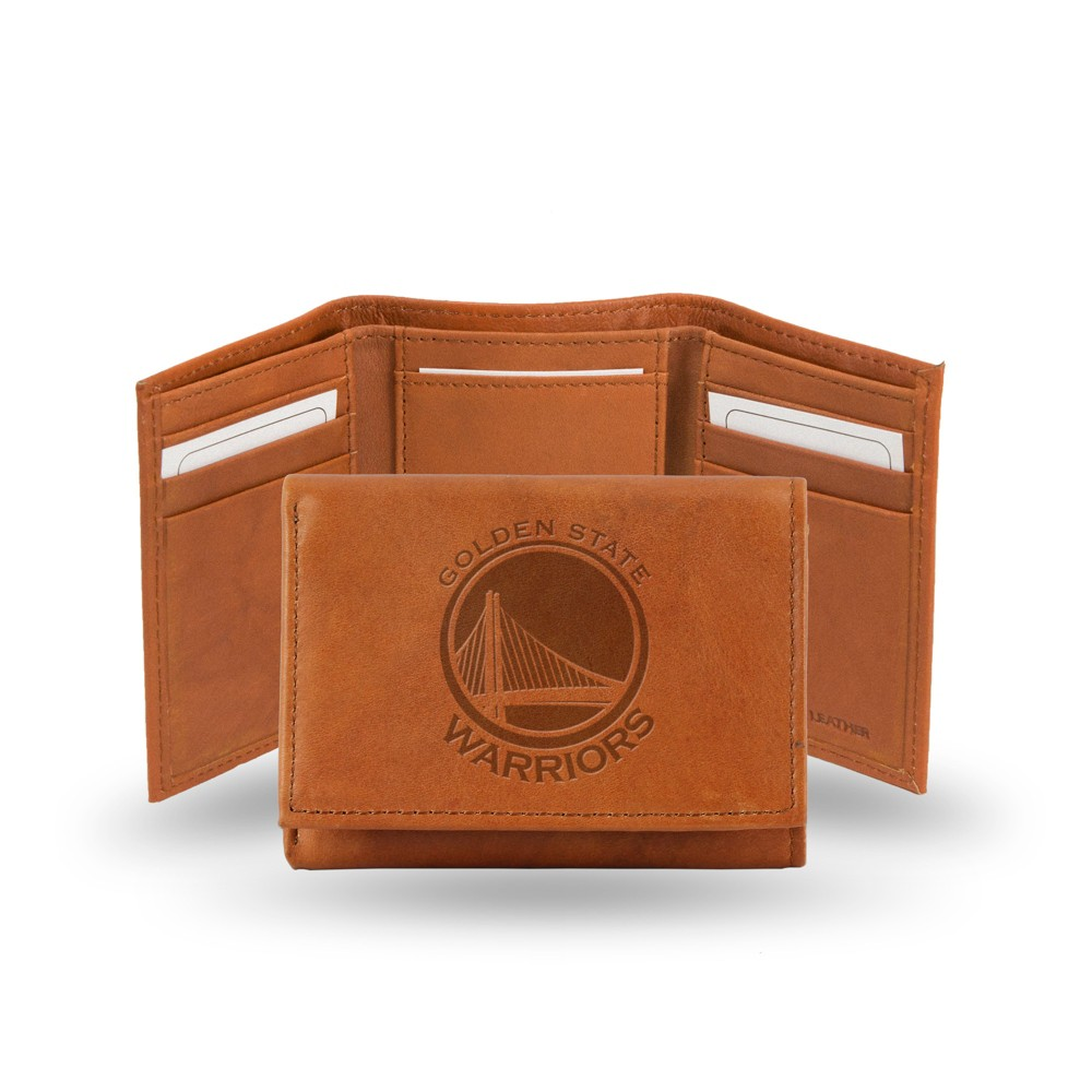 Golden State Warriors Rico Industries Embossed Leather Trifold Wallet