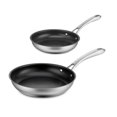 Cuisinart Classic  2pc Stainless Steel Non-Stick Skillet Set - 8322-810NS