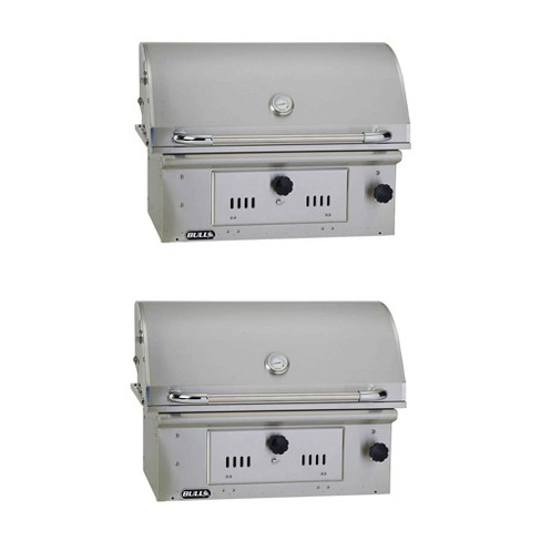 Bull Outdoor Products Open Bison Stainless Steel Charcoal Grill Head 2 Pack