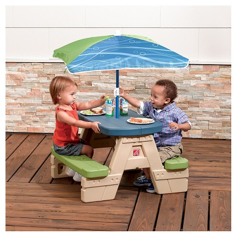 Step2 Sit Play Junior Picnic Table With Umbrella Target