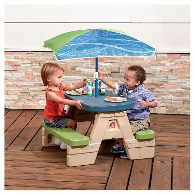 Gentil Step2® Sit U0026 Play Junior Picnic Table With Umbrella : Target