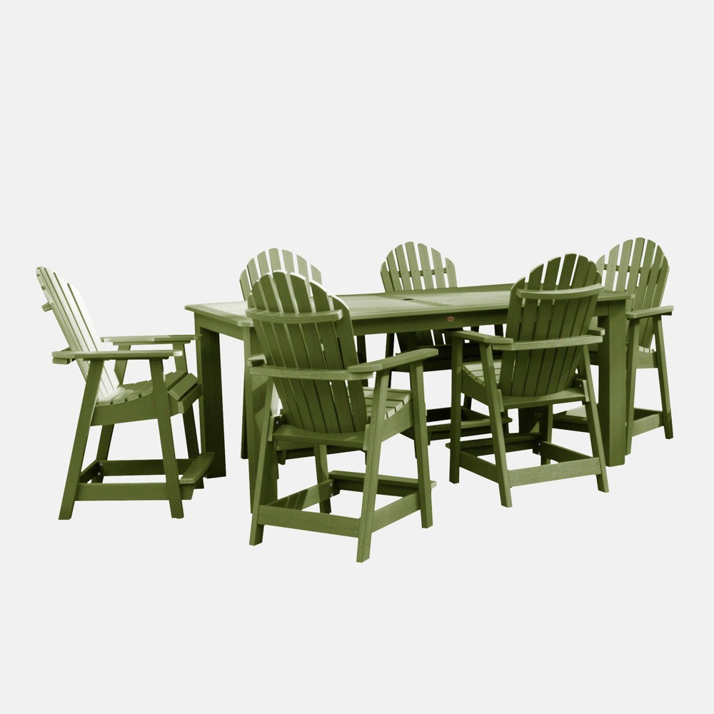 "Image of ""7pc Hamilton 84"""" Rectangular Counter Height Patio Dining Set Dried Sage - highwood, Dried Green"""