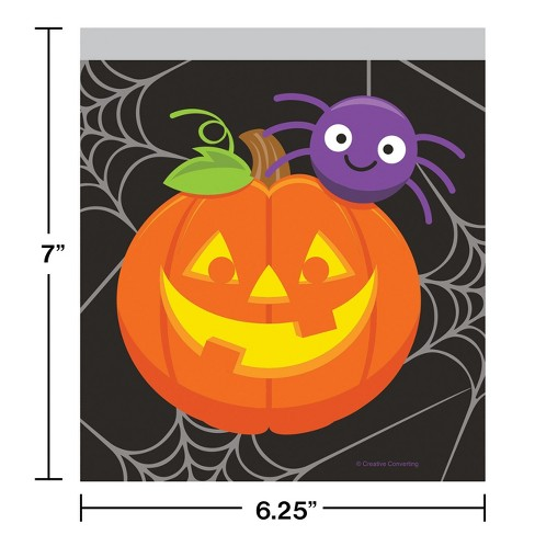 10ct Pumpkin and Spider Favor Bags - image 1 of 1